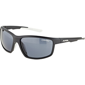 Alpina Defey Lunettes, black matt-white/black
